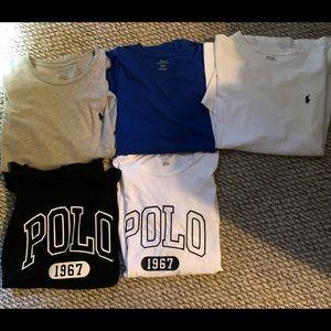 Polo shirts size large and medium